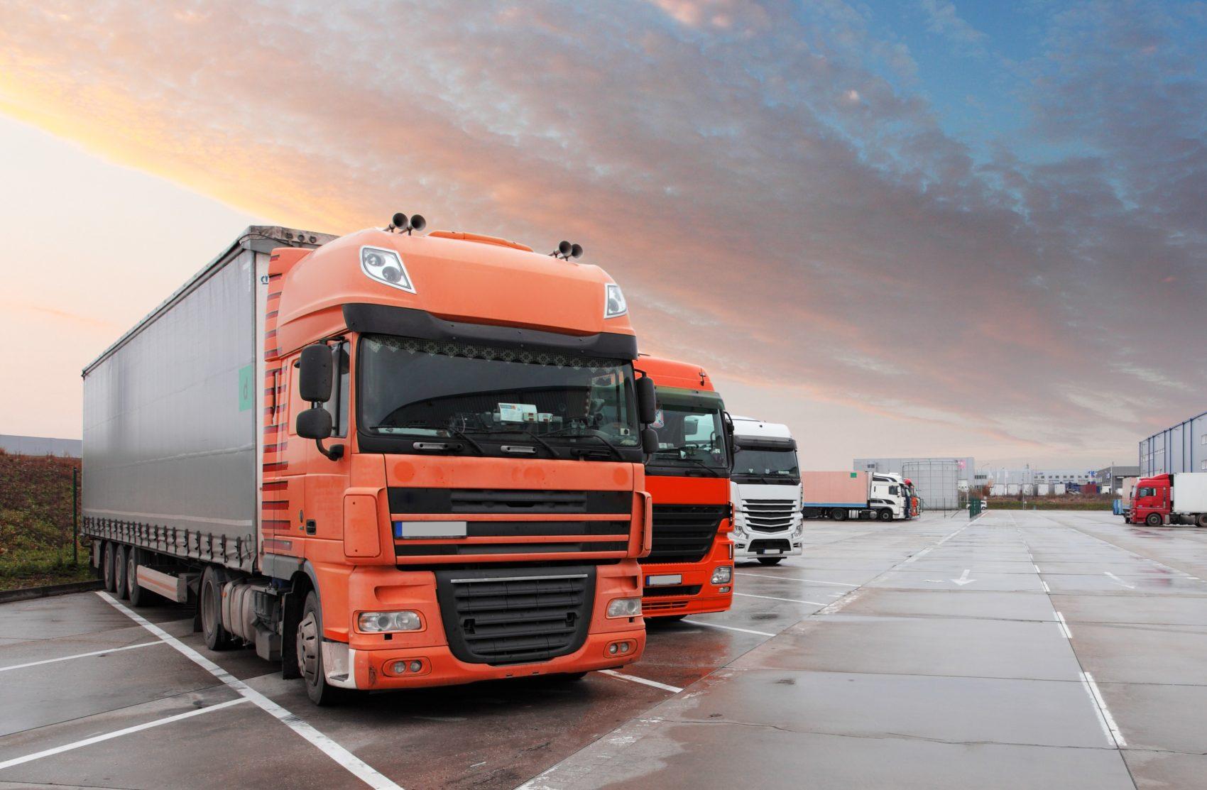 orange lorry